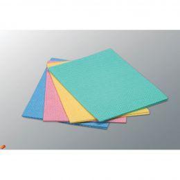 Салфетка универсальная, голубой, красный, желтый, зеленый,38х40 см