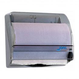 Диспенсер-контейнер Azur для бумажных полотенец или 1 рулона, прозрач. дымчатый SAN-пластик/серый ABS-пластик