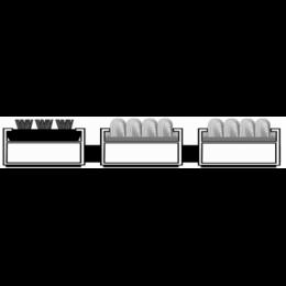 Алюминиевая решетка. вставка щетка-ворс-ворс