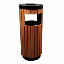 Урна-пепельница Wood (410х1000 мм, 40 л, с емкостью)