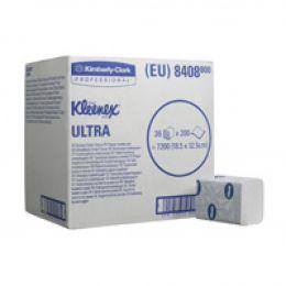 Сложенная туалетная бумага 2 слоя Kimberly-Clark 8408 KLEENEX Ultra
