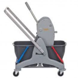 TASKI Duo Bucket Cart Set / Комплект двухведерной тележки (включает раму, красное ведро, синее ведро, отжим и ручку)