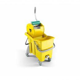 Ведро ActionPro желтое 30 л, со сливным отверстием, диаметр колес 80 мм