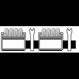 Алюминиевая решетка. вставка ворс-ску