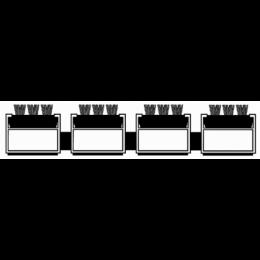 Алюминиевая решетка. вставка Щетка (черная в шах. порядке)