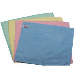 Салфетка МикроТафф Бэйс, голубой, красный, желтый, зеленый,36х36 см