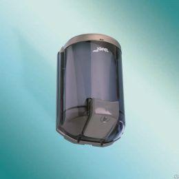 Дозатор ЖМ НТ Aitana Luxe, прозрач. дымчатый SAN-пластик/серый ABS-пластик, крышка- нерж.сталь