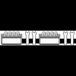 Алюминиевая решетка. вставка ворс-ску-ску