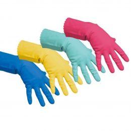 Резиновые перчатки многоцелевые , голубой, красный, желтый, зеленый,S,M,L,XL