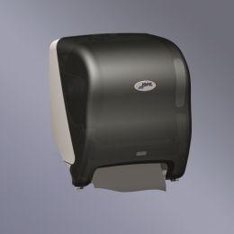 Диспенсер с автоподачей бумаги бесконтактного типа, прозрач.дымчатый SAN-пластик/серый ABS-пластик