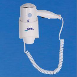 Фен настенный, включение кнопкой, монтаж стационарный, ABS-пластик, белый цвет