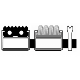 Алюминиевая решетка. вставка резина -ворс-ску