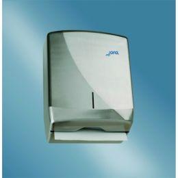 Диспенсер-контейнер Azur для бумажных полотенец, прозрач. дымчатый SAN-пластик/серый ABS-пластик