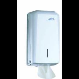 Диспенсер-контейнер Azur для туалетной бумаги Z-сложения, белый ABS-пластик