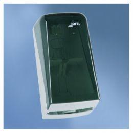 Диспенсер-контейнер Azur для 2-х рулонов ТБ, прозрач. дымчатый SAN-пластик/белый ABS-пластик