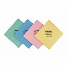 Салфетка ПВАмикро,голубой, красный, желтый, зеленый,35х38 см