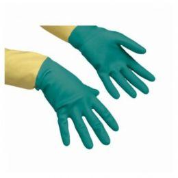 Усиленные резиновые перчатки , ЖЕТЫЙ/ЗЕЛЕНЫЙ, S,M,L,XL