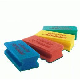Губка Профи с системой ПурАктив,голубой, красный, желтый, зеленый,6,3х14 см