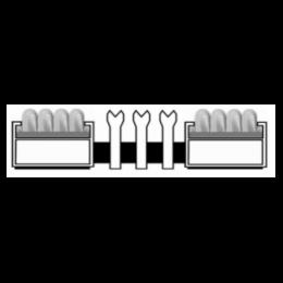 Алюминиевая решетка. вставка ворс-ску-ску-ску