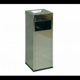 Урна-пепельница Ладья (300х300х850 мм, 30 л, с емкостью)