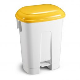 Ведро мусорное Derby, с желтой крышкой, 60 л.