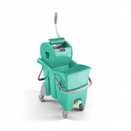 Ведро ACTION PRO 30 л с отжимом Dry зеленое