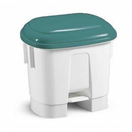 Ведро мусорное Derby, с зеленой крышкой, 30 л.